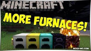 More Furnaces - мод на печи 1.12.2, 1.12, 1.11.2, 1.10.2, 1.8, 1.7.10