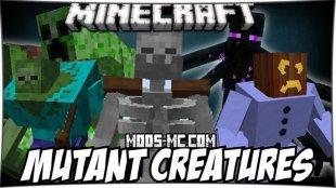 Mutant Creatures - мод на мутантов 1.7.10