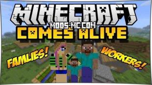 Minecraft Comes Alive - мод на семью 1.12.2, 1.12, 1.10.2, 1.8, 1.7.10