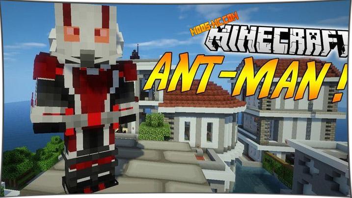 AntMan - мод на Человека муравья 1.8, 1.7.10