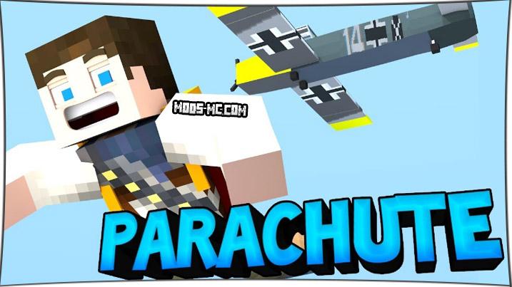 Parachute - мод на парашют 1.14.4, 1.12.2, 1.7.10
