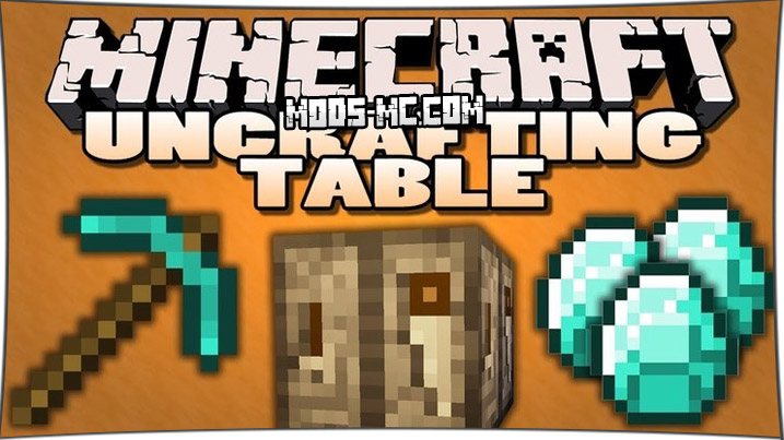 Uncrafting Table 1.12.2, 1.11.2, 1.10.2, 1.8, 1.7.10