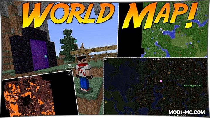 Xaero's World Map 1.14.4, 1.12.2, 1.11.2, 1.10.2, 1.8, 1.7.10