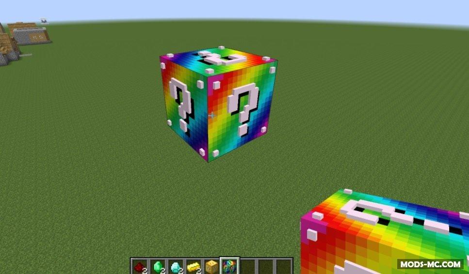 скачать версию майнкрафта с лаки блоками