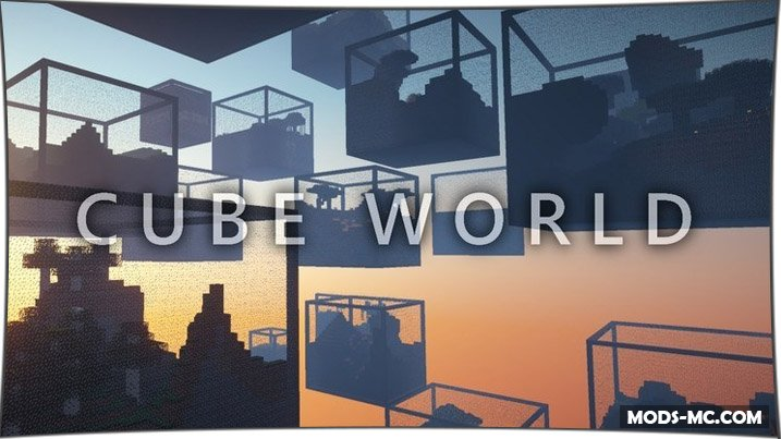 Cube World - мод на кубы 1.11.2, 1.10.2, 1.8, 1.7.10