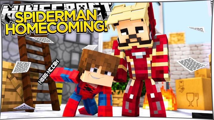 Spider Man - мод на Человека-Паука 1.11.2, 1.8, 1.7.10