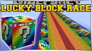 Rainbow Lucky Block Race - радужная лаки блок гонка 1.16.2, 1.15.2, 1.12.2, 1.7.10