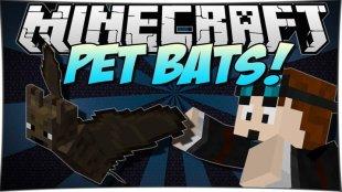 Pet Bat - мод на летучих мышей 1.12.2, 1.11.2, 1.10.2, 1.8, 1.7.10