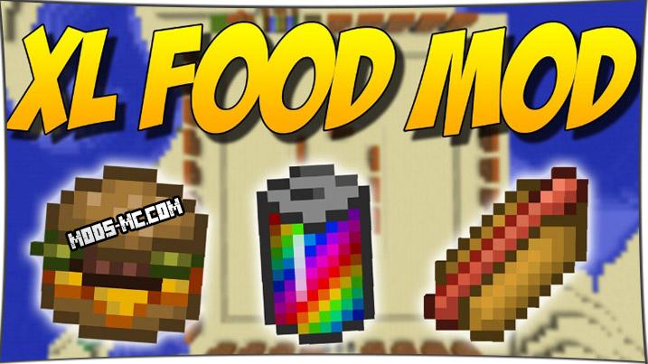 XL Food - мод на еду 1.14.4, 1.12.2, 1.11.2, 1.10.2, 1.8