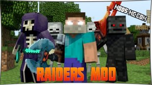 Raiders - мод на рейдеров 1.12.2, 1.11.2, 1.10.2