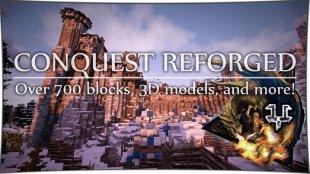 Conquest Reforged - блоки для постройки замка 1.12.2, 1.10.2